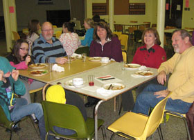 The January 11 Sudan Solidarity Supper featured rice and beans...