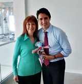 Linda, Justin Trudeau and Jack