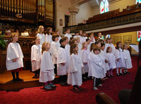 Primary Choir on a Singing Sunday