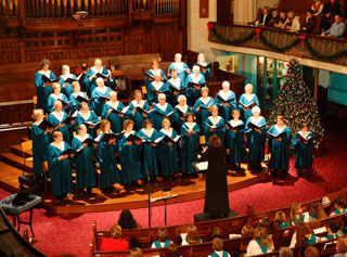The Senior Choir's Annual Christmas Concert with Denise Pelley and band continues to attract capacity audiences (500–600) year after year.